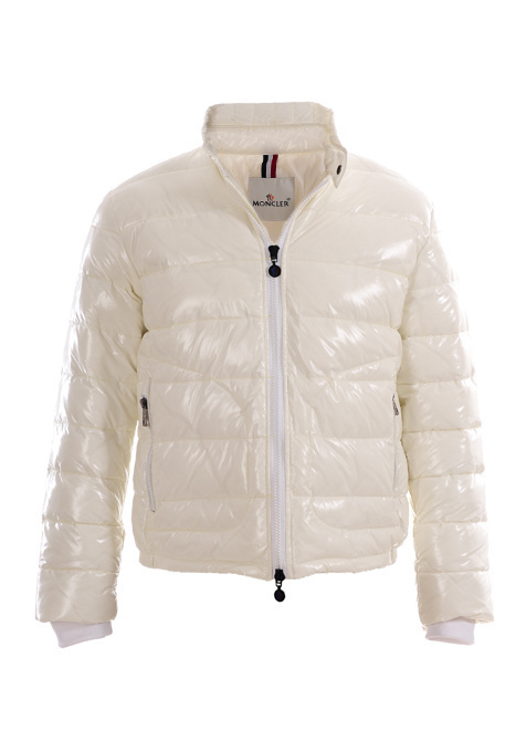 Cheap Moncler Jackets For Men White With Mock Collar MC1093 Sale